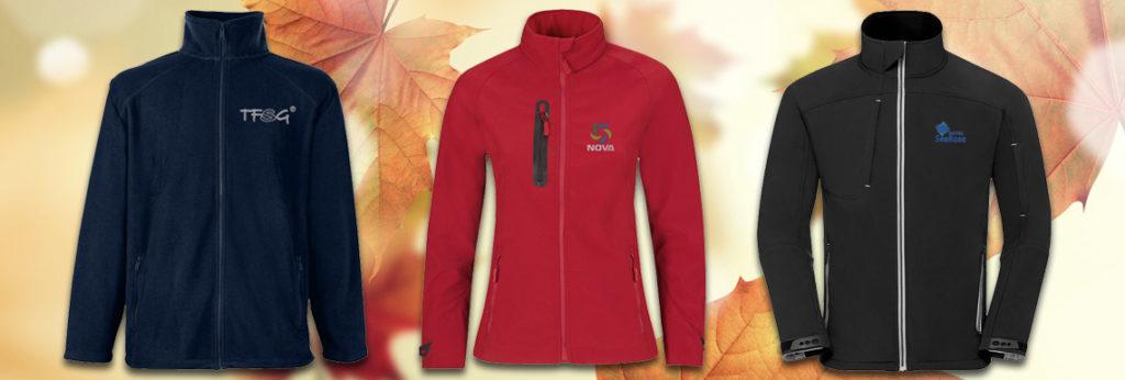 Startschuss Herbst: Fleece- & Softshelljacken als Mitarbeitergeschenk